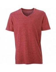 James & Nicholson bordó színű Férfi V-nyakú póló