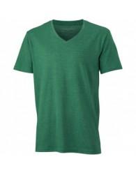 James & Nicholson Zöld színű Férfi V-nyakú póló