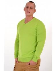 V-nyakú Pulóver Zöld